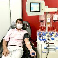 Banco de Sangue de SJC faz coleta de plasma de paciente com Covid-19