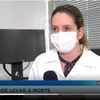 A hematologista Leila Pessoa de Melo fala à TV Record sobre trombose