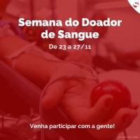 Serviço de Hemoterapia de São José dos Campos promove semana do doador de sangue