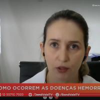 A hematologista Leila Pessoa de Melo fala sobre doenças hemorrágicas à TV Band Vale