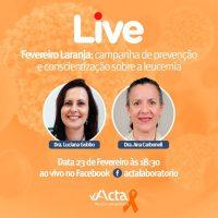 Hematologista do SHH - Serviço de Hematologia participa de live sobre leucemia